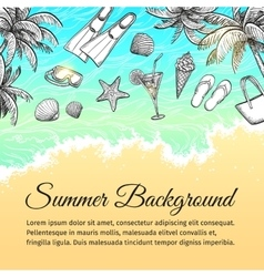 Summer sea background vector image