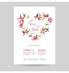 Wedding Invitation or Congratulation Card Set vector image