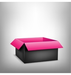 3D black pink box vector