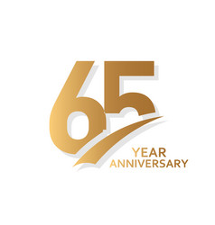 65 year anniversary template design vector