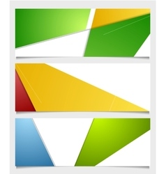 Abstract corporate minimal banners vector