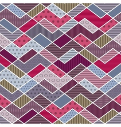 Abstract geometric patchwork pattern vector