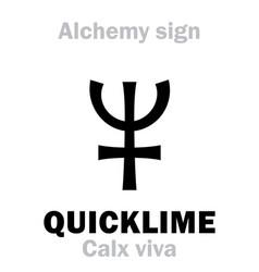 Alchemy quicklime calx viva vector