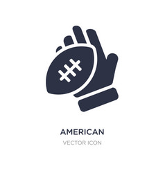 American football player hand holding ball vector