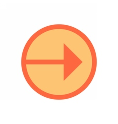 Arrow sign direction icon circle button flat style vector