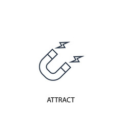 Attract concept line icon simple element vector
