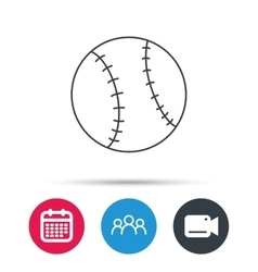 Baseball icon Sport ball sign vector image