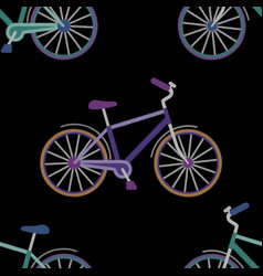 bike embroidery seamless pattern vector image