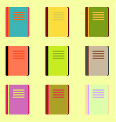 Books icons collection vector