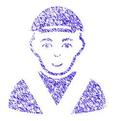 boy icon grunge watermark vector image