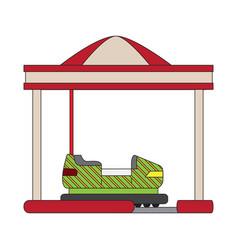 Bumper car attraction vector