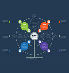 Business presentation concept with 4 or 7 points vector