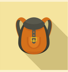 camp backpack icon flat style vector image