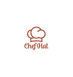 Chef hat logo design minimal clean modern design vector