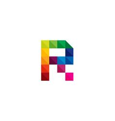 color letter r logo icon design vector image