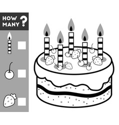 counting game for children count how many cake vector image