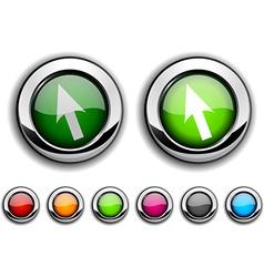 Cursor button vector image