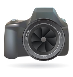 Dslr photo camera vector