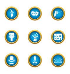 Faerie icons set flat style vector