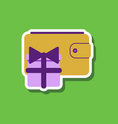 Fashion patch sale sticker purse gift vector