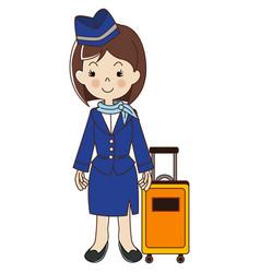 Flight attendant air hostess vector