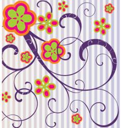 flowers and spirals vector image