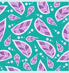 flowers purple violet on a green background vector image