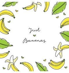 frame of bananas vector image