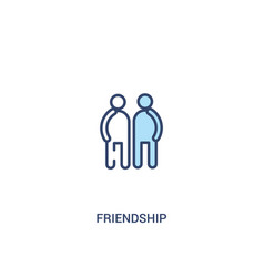 Friendship concept 2 colored icon simple line vector