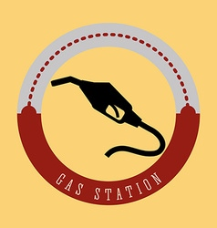 Gas Station design vector