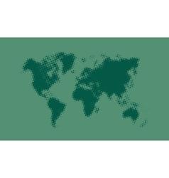 Green halftone political world map vector image