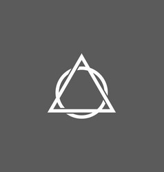 grey and white circle and triangle shape vector image