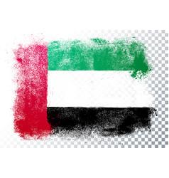 Grunge flag united arab emirates vector