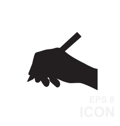 Hand writing simple black icon vector image