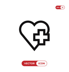 health care icon vector image