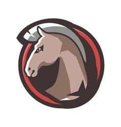 horse head emblem vector image