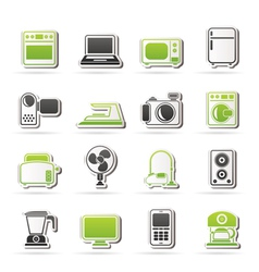 Household appliances and electronics icons vector