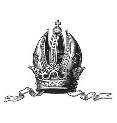 Imperial crown of austria greatly vintage vector
