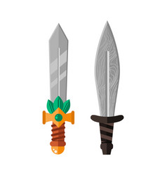 knife weapon dangerous metallic sword vector image