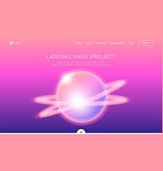 landing page template app development web page vector image