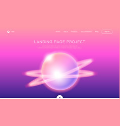 Landing page template of app development web page vector