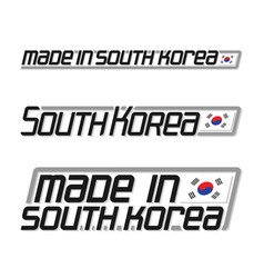 Made in south korea vector