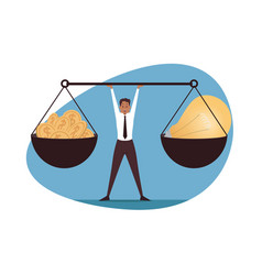 management balance leadership business concept vector image