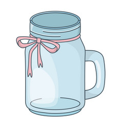 Mason jar bottle cartoon vector