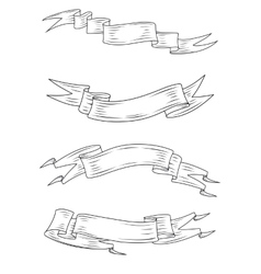 Medieval ribbons and banners vector image