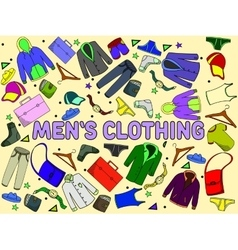 Men clothing vector image