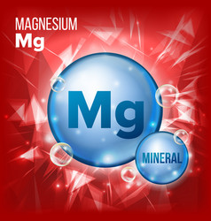 Mg magnesium mineral blue pill icon vector