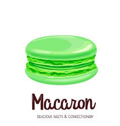 Mint macaron vector