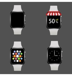 Modern realistic smart watch set vector