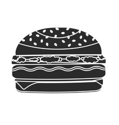 monochrome black humburger symbol vector image